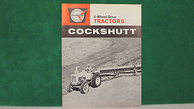 Cockshutt Tractor brochure on 4WD Models 1600, 1800, 1900 from 1964, rare & Mint
