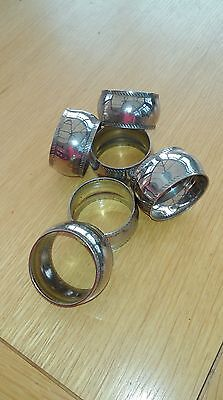set of six silver plate napkin rings.