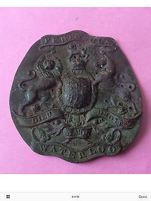 Shako Plate? Unknown Regiment Detecting Find ,As Found Not Straightened