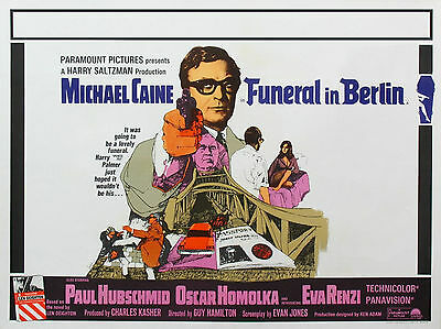 """Funeral in Berlin 1966 16"""" x 12"""" Reproduction Movie Poster Photograph"""