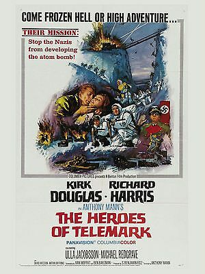 """The Heroes of Telemark 16"""" x 12"""" Reproduction Movie Poster Photograph"""