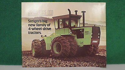 Steiger New Series III 4WD Tractor brochure, Full Line from 1976, excellent.
