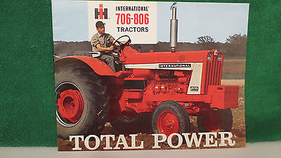 IHC Tractor brochure on 706 & 806 Tractors from 1964, near mint.