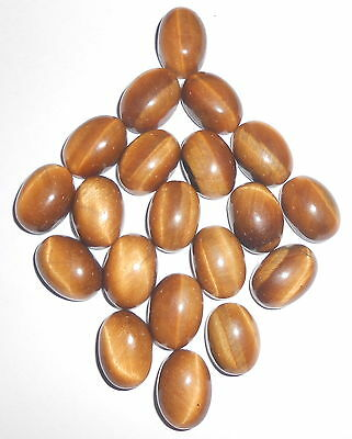 150 Cts 10X14 Mm Natural Tiger's Eye  Oval Shape Cabochon Loose Gemstone Us 105