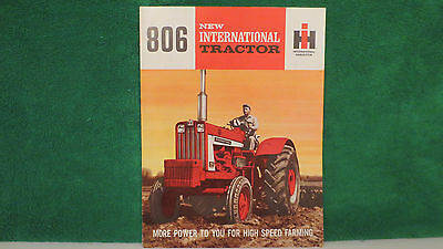 IHC Tractor brochure on New Model 806 International Tractor from 1964, mint.