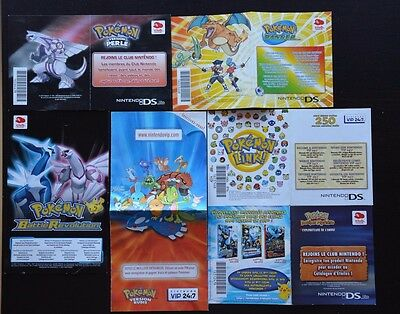 lot de 6 CARTES NINTENDO VIP POKEMON