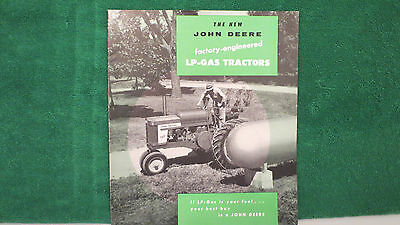 John Deere Tractor brochure on New LP Gas Tractors from 1956, rare and near mint