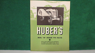 Huber Tractor brochure on Model OB Orchard Type Tractor, rare, near mint.