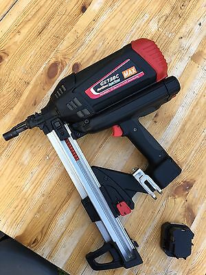 MAX POWER GS738C ST GAS CONCRETE PINNER NAILER Without Charger