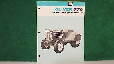 Oliver Tractor brochure on Model 770 Orchard & Grove Tractors for 1965, rare, NM