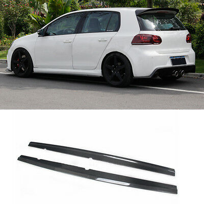 Side Skirts Lip Spoiler Bodykits Carbon Fiber Fit for Volkswagen Golf VI MK6 R20