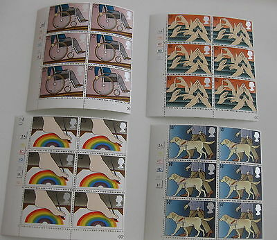 GB 1981 Interntnl year of disabled MNH. 4 blocks of 6 stamps SG 1147 - 1150