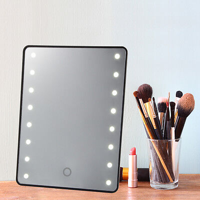 Touch LED Light Illuminated Make Up Cosmetic Vanity Mirror Tabletop/Wall Mounted