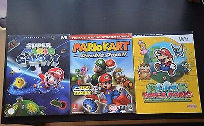 3 Guides Nintendo Gamecube Wii Paper Mario Galaxy Kart Double Dash