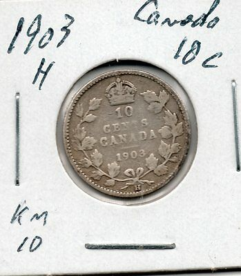 Nice Early Year 1903 H Canada 10 Cent Great Collector Coin Buy it Now