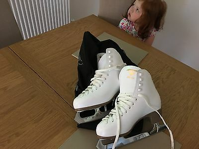 Risport girls figure skates virtually brand new size 2 and a half