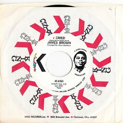 James Brown vinyl record  7inch 45rpm (I Cried)
