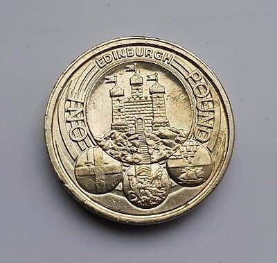 CAPITAL CITIES Rare One Pound Royal Mint Edinburgh Cardiff London Belfast