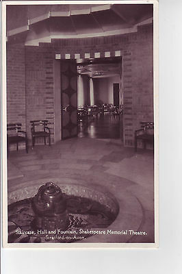 STRATFORD ON AVON Shakespeare Memorial Theatre interior vintage postcard