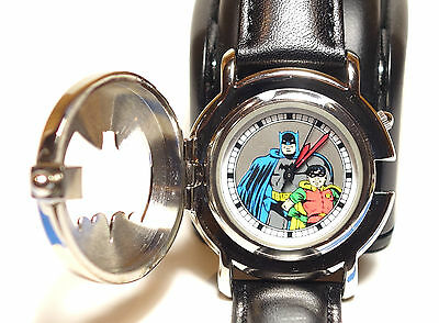 Batman & Robin Dynamic Duo Rare Flip Cover Mans Fossil DC Comics Watch