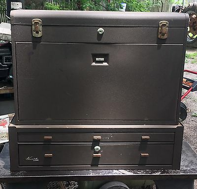 Kennedy 52611 11-Drawer Machinists Chest W/ MC-28 Riser Middle Cabinet Tool Box