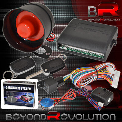 Flip Key Remote Car Alarm System Shock And Motion Trigger System For Acura