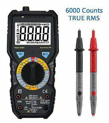 Digital Multimeter, LIUMY 6000 Counts Electronic Multi Tester with RMS, Non AC /