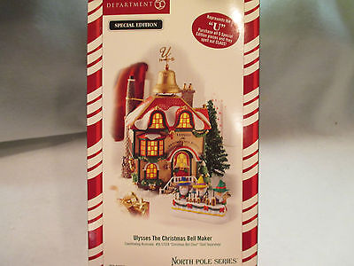 """Dept 56 North Pole Series """"Ulysses The Christmas Bell Maker""""  #56 56955"""