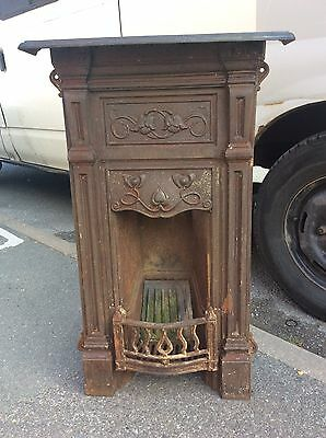 Antique Victorian / Edwardian Cast Iron Bedroom Fireplace Courier Or Collection