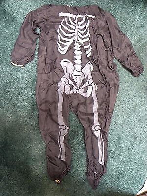 Vintage Skeleton Halloween Costume Old Antique Decoration 1950's / 1960's