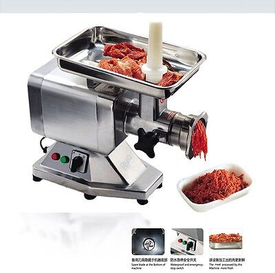 New Commercial Stainless Steel True 2HP Electric Meat Sausage Grinder No #22