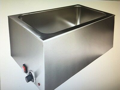 New 1200W Commercial Stainless Steel Electric Countertop Full size Food Warmer