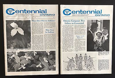 "1967 - TWO issues of ""Centennial Ontario"" magazine - Canadian Confederation"