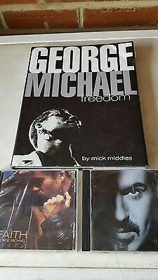 george michael book plus 2 cds faith and older