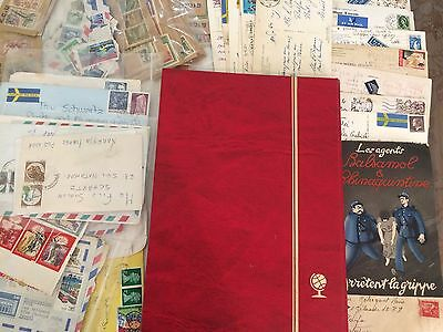 Large assortment of stamps from Europe- including stamp collection and mail