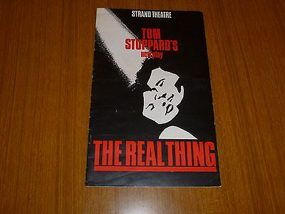 The Real Thing by Tom Stoppard, Strand Theatre programme