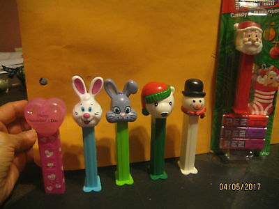 Lot Of Five Holiday Pez