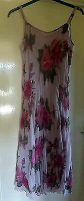 Floral Summer Dress summer (Fully Lined)  - evening/party/cruise  size 16