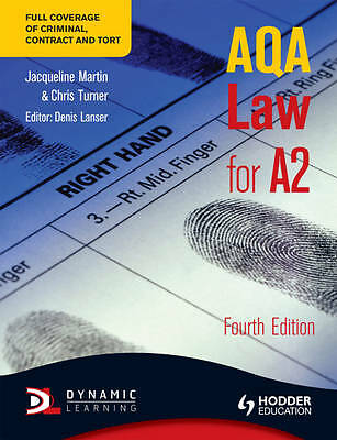 AQA Law for A2 by Jacqueline Martin, Chris Turner (Paperback, 2011)