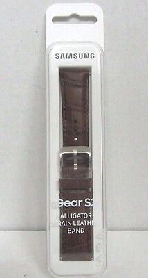NOB Samsung - Leather Band for Samsung Gear S3 Classic Alligator Grain Brown