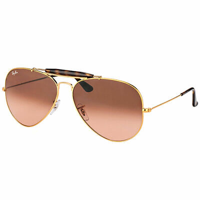 05216c665a Ray-Ban Outdoorsman II RB 3029 9001A5 Light Bronze Sunglasses Pink Shaded  Lens