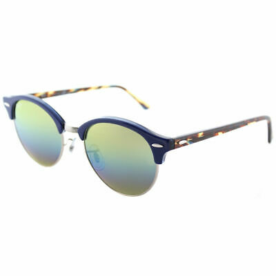 Ray-Ban Clubround RB 4246 1223C4 Blue Sunglasses Blue Gold Rainbow Flash  Lens 5466ad7cbc