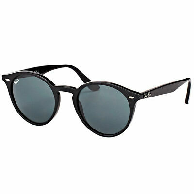694be14caf Ray-Ban RB 2180 601 71 Black Plastic Round Sunglasses Green Lens 49mm