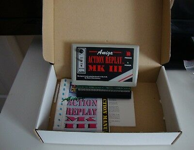 Commodore Amiga 500 Action Replay MK 3 boxed & Instructions Tested Working