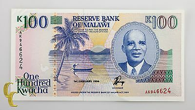 1994 Reserve Bank of Malawi 100 Kwacha (UNC) Uncirculated Condition