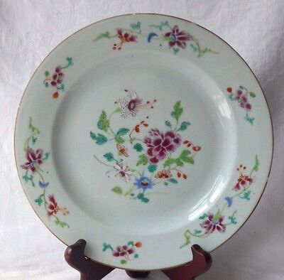 C18Th Chinese Famille Rose Plate With Flowers And Border