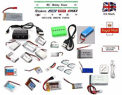 3.7V - 7.4V 100mAh-1200mAh LiPo Battery and Battery Chargers for RC Multicopters