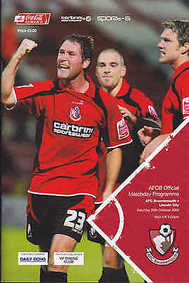 2008/09 BOURNEMOUTH V LINCOLN CITY League 2 (Excellent)