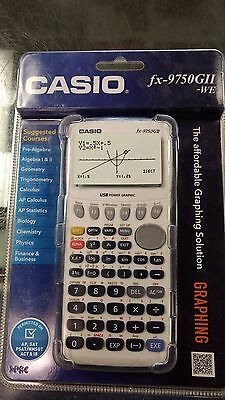 Casio Model# fx-9750GII-WE graphing calculator, Brand New in Package