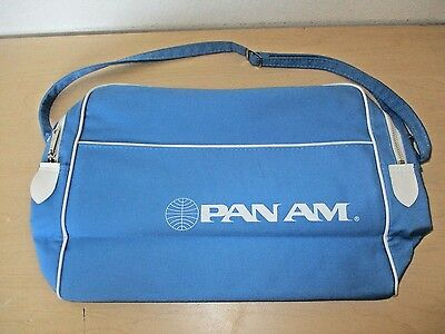 Vintage Pan Am Airlines Canvas Flight Carry On Travel Bag. Nos